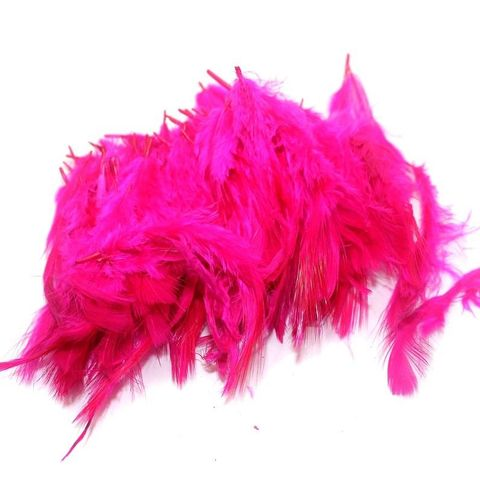 100 Jewellery Making Feather Hot Pink