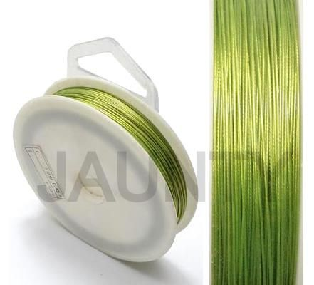 100 MtrJewellery Making Metal Beading Wire Light Green 0.45 mm