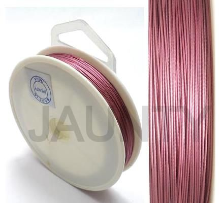 100 MtrJewellery Making Metal Beading Wire Pink 0.45 mm