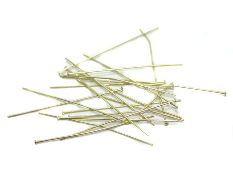 500 Pcs. Metal Golden Head Pins 2 Inch