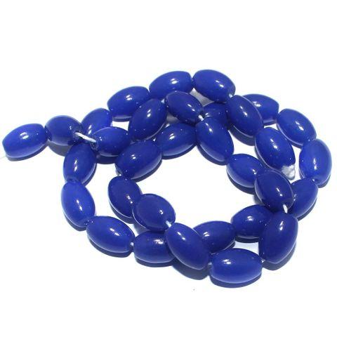 Jaipuri Beads Blue Oval 5 Strings 13x8mm