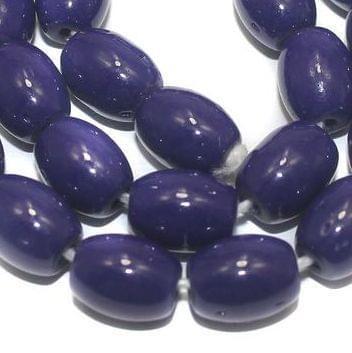 Jaipuri Beads Dark Blue Oval 5 Strings 12x8mm