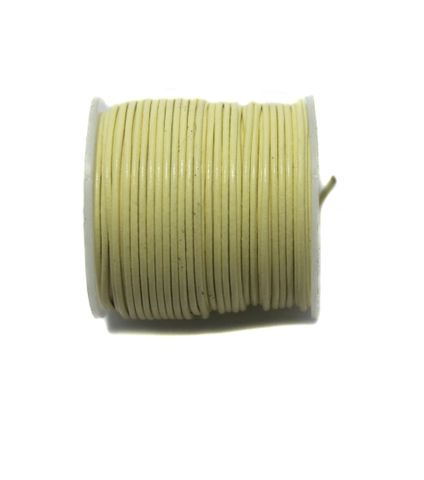 25 Mtrs. Jewellery Making Leather Cord Yellow 1 mm