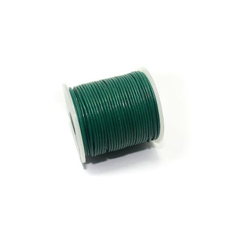 Jewellery Making Leather Cord 1mm Dark Green-25 Mtr