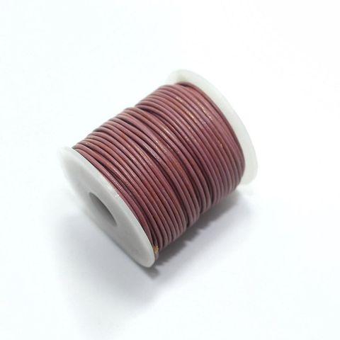 Jewellery Making Leather Cord 1mm Light Purple-25 Mtr
