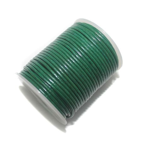 Jewellery Making Leather Cord Green 2mm -25 Mtr