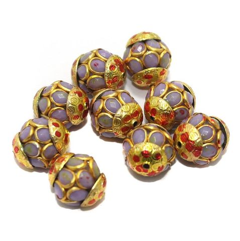 Pacchi Round Beads 15x12mm Violet