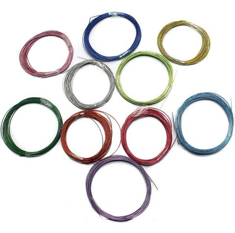 10 pcs [5mtr each] Beading Wire Combo Pack Assorted Color