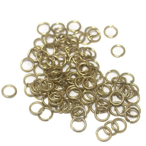 Finding for Jewellery Making Golden Jump Rings, Size 6 mm, Pack of 100 Grams Approx 800 pcs