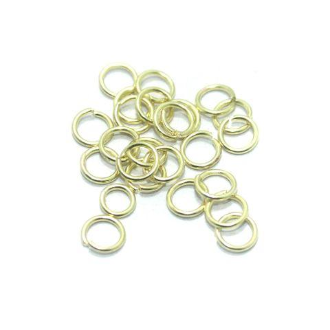 550 Pcs Brass Golden Jump Rings 12mm