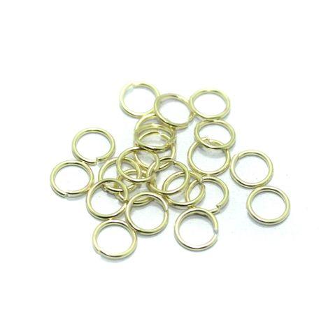 100 Gm. Brass Golden Jump Rings 7 mm
