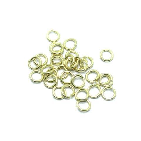 1100 Pcs Brass Golden Jump Rings 6 mm