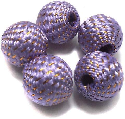 10 Crochet Round Beads Light Purple 22 mm