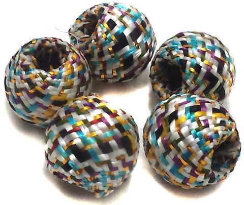 10 Crochet Round Beads Assorted 17