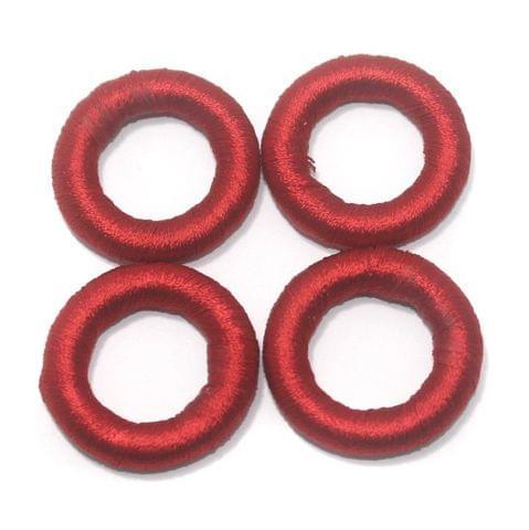 25 Pcs. Crochet Ring Red 36 mm