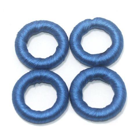 25 Pcs. Crochet Ring Royal Blue 36 mm