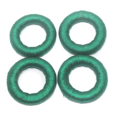 25 Pcs. Crochet Ring Green 36 mm