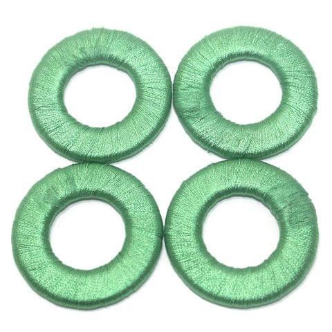 25 Pcs. Crochet Ring Green 40 mm