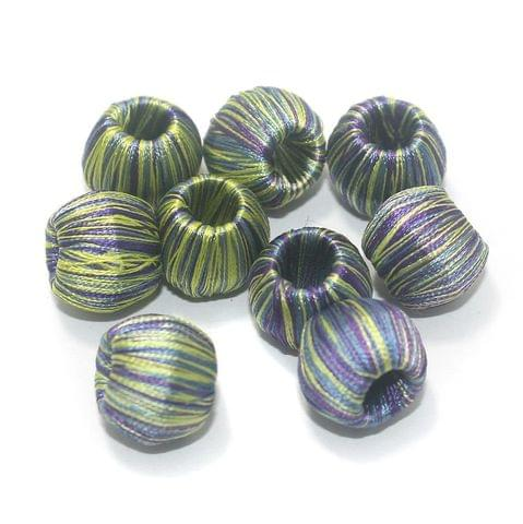 25 Pcs Crochet Round Beads Multi Color 15 mm