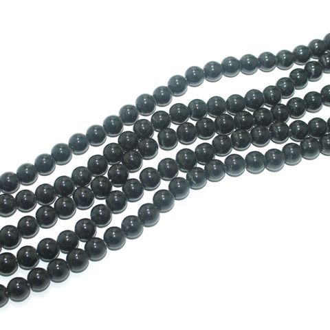 Shell Pearl Beads Black, Size 10mm, Pack Of 5 Strings