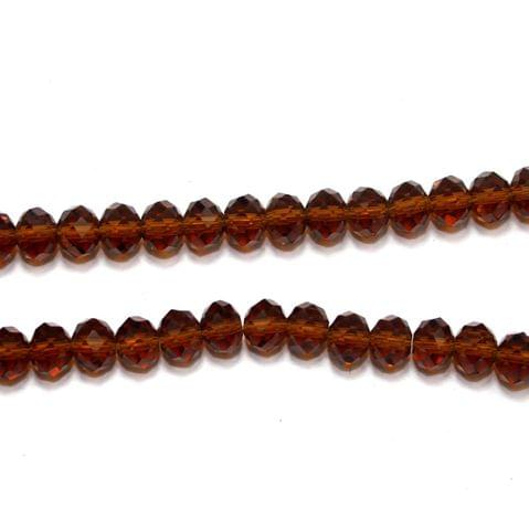 Crystal RONDELLE Beads Topaz 8x6, Pack of 70 pcs