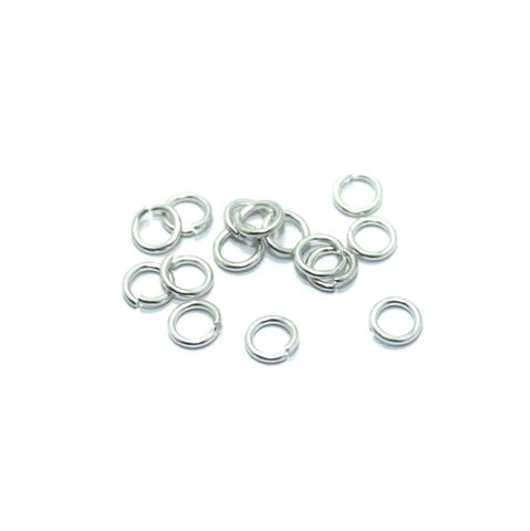 100 Gm Brass Silver Jump Rings 5 mm