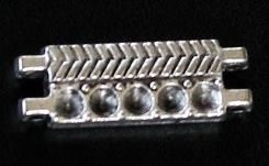 20 German Silver Link Spacer 9x26mm