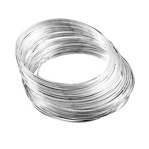 100 Rows. Silver Finish Memory Wire For Bracelets Size 2.4