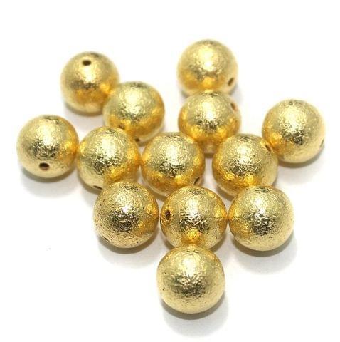 200 Pcs CCB Round Beads Golden 8 mm