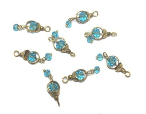200 Faceted Loreal Ring Beads Trans Turquoise 6 mm