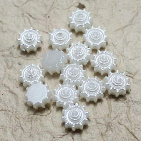 200 Acrylic Pearl Beads White 10 mm