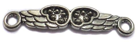 20 German Silver Connector Charms 4x26mm