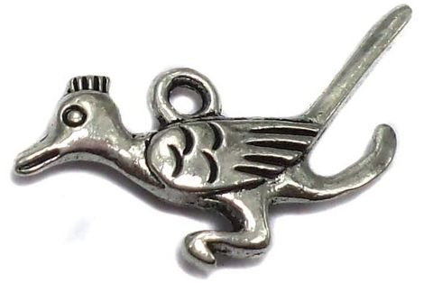 20 German Silver Bird Charms 18x7mm