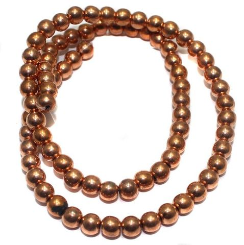 150+ CCB Round Beads Copper 6 mm