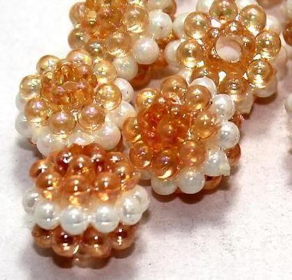 100 Acrylic Round Beads Peach 10mm