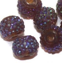 50 Sugar Coated Acrylic Beads Topaz 6mm