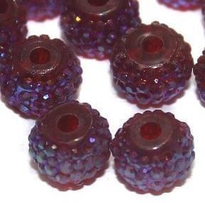 50 Sugar Coated Acrylic Beads Maroon 6mm