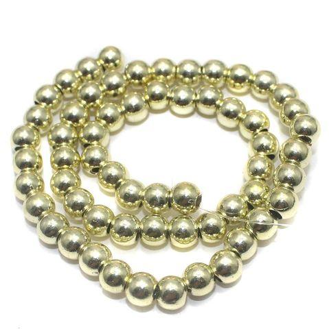 100+ Acrylic Round Beads Yellow 6mm