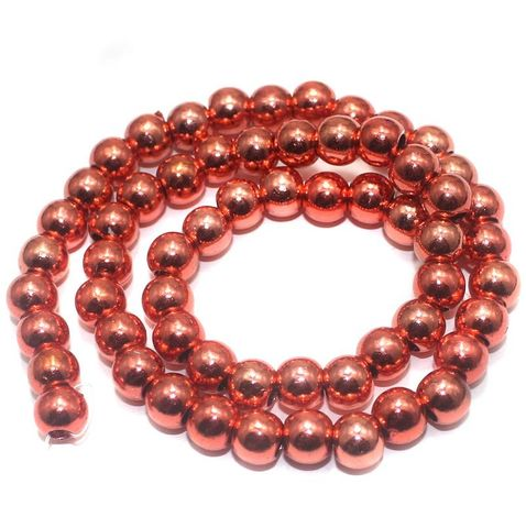 100+ Acrylic Round Beads Red 6mm