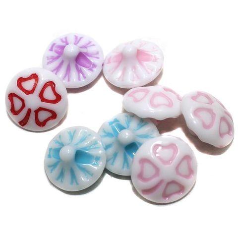 40 Acrylic Flower Beads Assorted 15mm