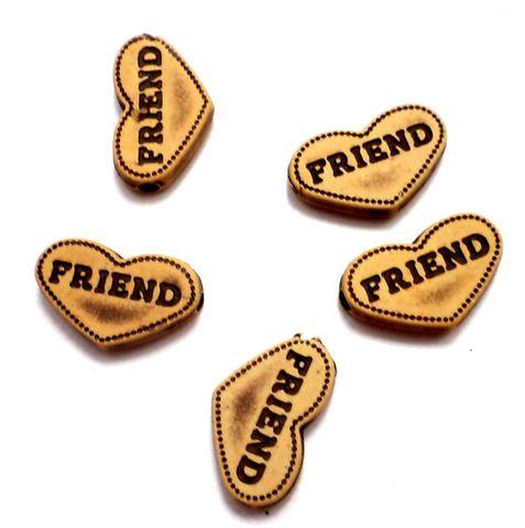 100 Friend Alphabet Beads 20x10mm