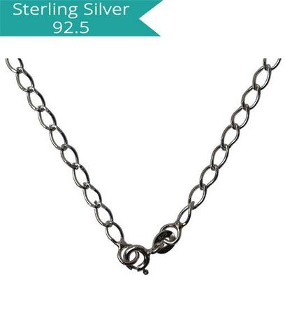 Sterling Silver Diamond Cut Chain - 42 cms