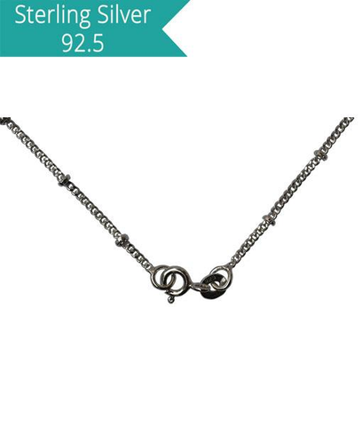 Sterling Silver Disco Chain - 42 cms