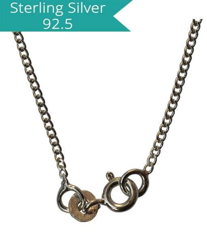 Sterling Silver Curb Chain - 42 cms
