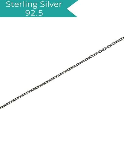 Sterling Silver Fine Link Chain - 100 cms