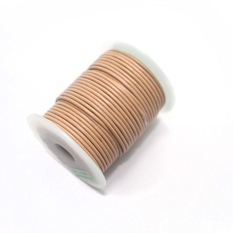 Leather Cord 2mm Peach-25 Mtr