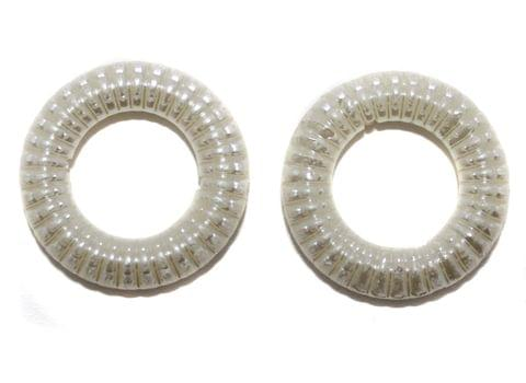10 Pearl Ring White 35mm