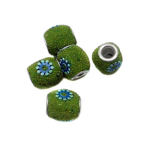 10 Pcs. Lac Tyre Beads Peridot 12mm