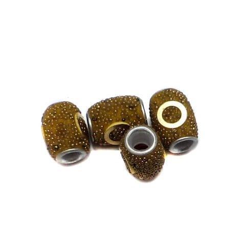10 Pcs. Lac Oval Beads Yellow 15x12mm