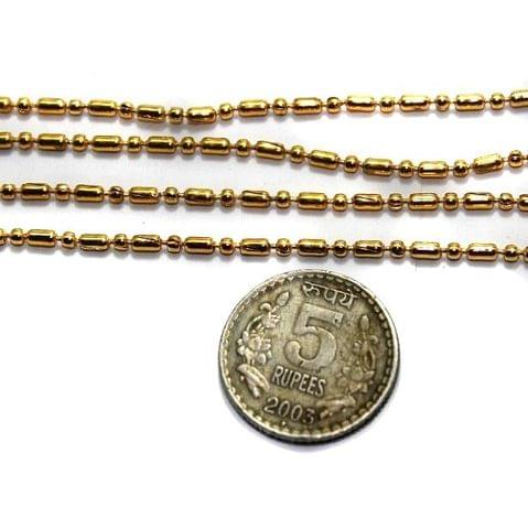 Metal Ball Chain Golden (Link size 1.5mm ) 2 Mtrs